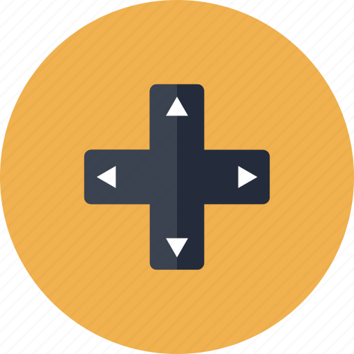 arrow, arrows, console, control, cursor, design, direction, game, gamepad, gaming, joystick, keys, navigation, pad, play, preferences icon