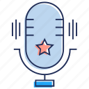 audio, mic, microphone, radio mic, recording mic icon