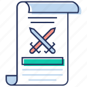 cross game, game manual, game scenario, game scroll, rules, scenario icon