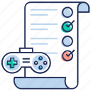 approve evaluation, assessment, checklist, evaluation list, game evaluation icon