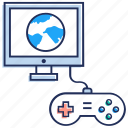 computer game, gaming, internet game, online game, video game icon