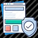 certified website, verified website, web checkmark, website protection, website verification icon