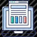 infographic, online analysis, statistics, visual analytics, web analysis icon