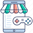 game shop, game stock, game store, online store, video game icon