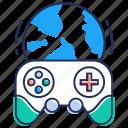 gaming, globe game, internet game, online game, video game icon