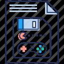 game memory, game storage, pacman game, save game, video game icon