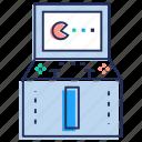 casino, jackpot gaming, pacman game, slot machine, video game icon