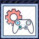 game development, game programming, online game development, video game development, video game marketing icon