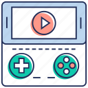gaming, internet game, mobile game, online game, video game icon
