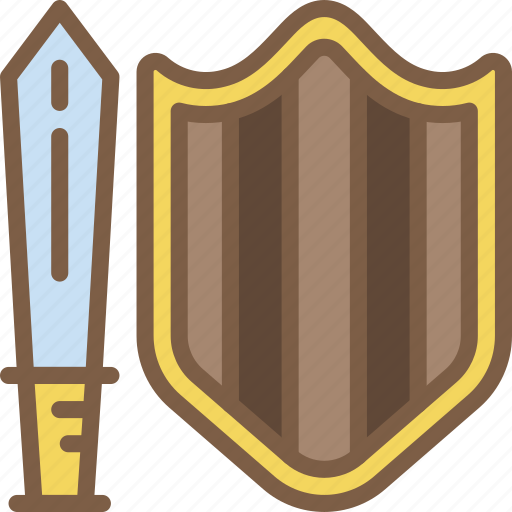 and, element, game, sheild, sword icon