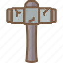 element, game, hammer, sledge icon