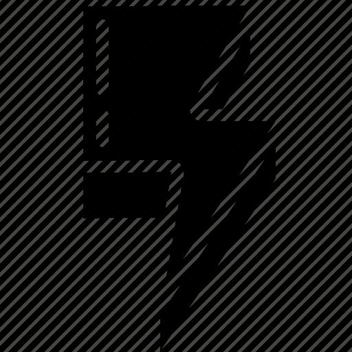 element, game, lightning icon