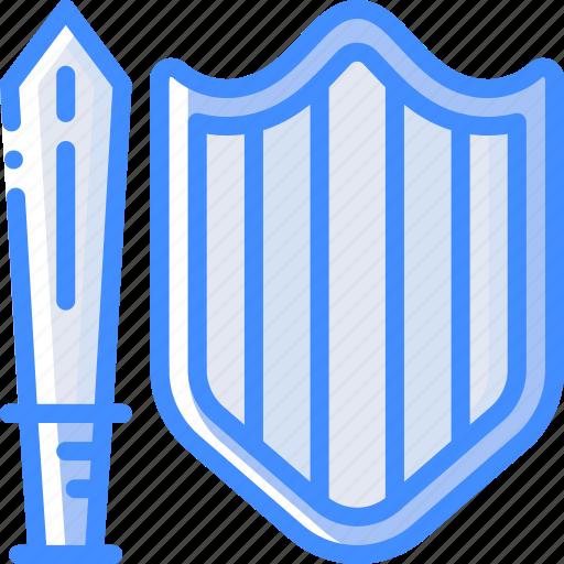 element, game, sheild, sword icon