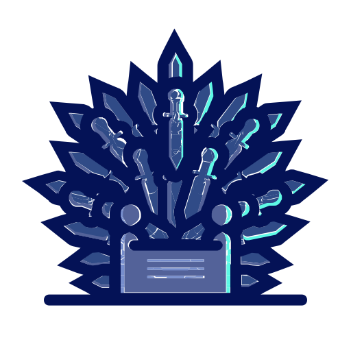 Of Throne Thrones Chair Iron Series Game Icon