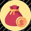 coin, gold, money, pocket, shop