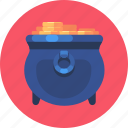coin, gold, money, pot, shop icon