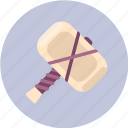 attack, hammer icon