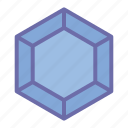 diamond, game, gem, jewelry, polygonal icon