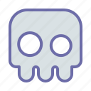 bone, creepy, game, ghost, skull icon