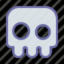 bone, creepy, game, ghost, skull icon