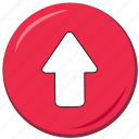 arrow, atop, command, high, on top, ui, up icon