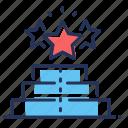 pedestal, rating, rewards, stars icon