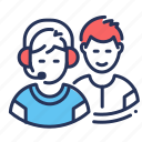 headphones, male, players, team icon