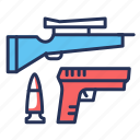 bullet, guns, shoot, weapon icon