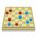 board, board game, checkered, checkers, fun, games, pieces icon