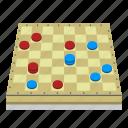 board, board game, checkered, checkers, fun, games, pieces icon