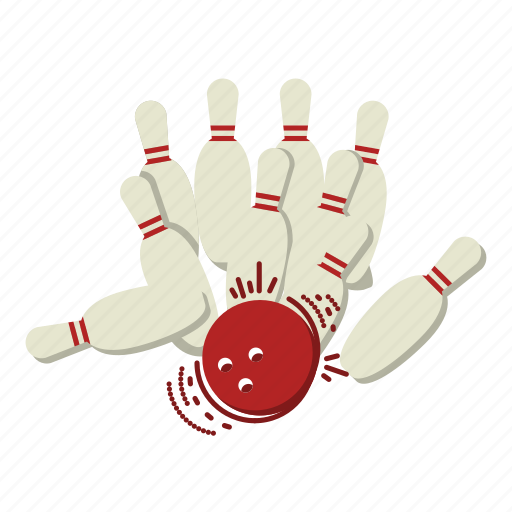 bowling, bowling pins, fun, games, spare, sports, strike icon