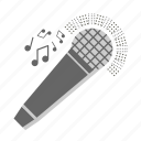 fun, karaoke, microphone, music, sing, singer, voice icon