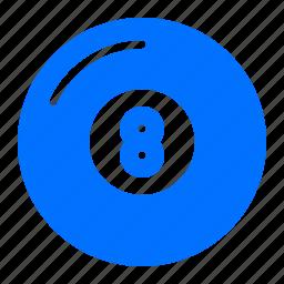 ball, billiard, eight, pool icon