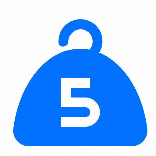 exercise, five, gym, weight icon