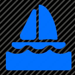boat, sailing, sport, transportation icon