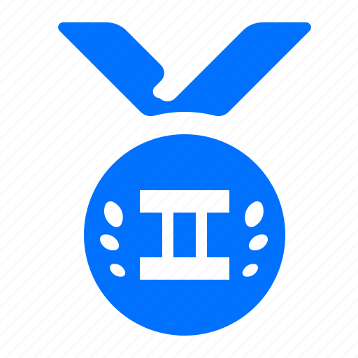 medal, place, second, winner icon