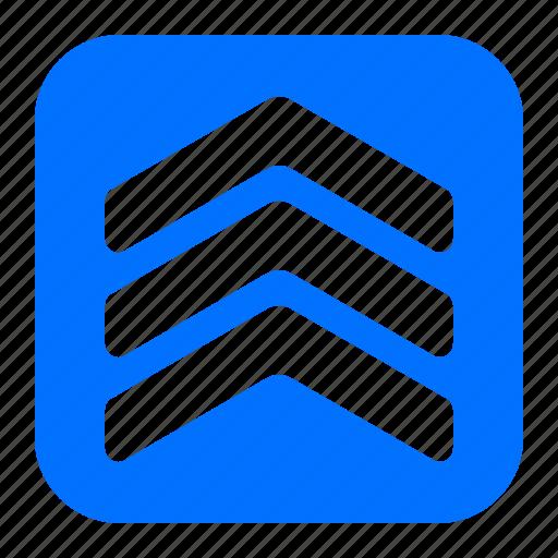 arrow, pointer, three, up icon