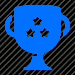star, three, trophy, winner icon