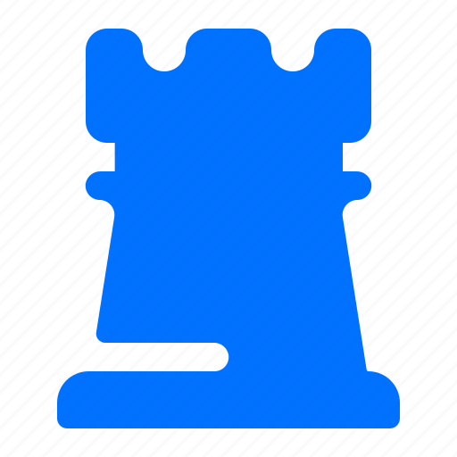chess, game, piece, tower icon