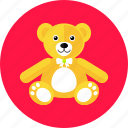 bear, cute, gift, kids, teddy, toy icon