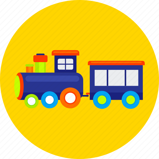 cute, for kids, games, railway, toy, train, tram icon