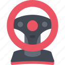 game, gamer, games, steering, video, wheel icon