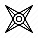 game, games, item, outline, play, shuriken icon
