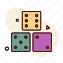 dices, games, luck icon