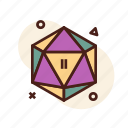 d&d, d20, dice, dungeon and dragons, icosahedron icon
