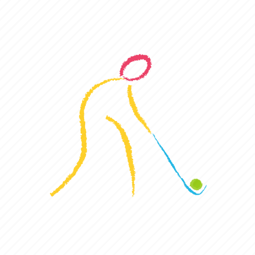 games, hockey, play, stroke icon