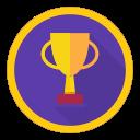 win, achievement, best, reward, trophy icon