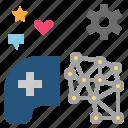circuit, game, gamification, innovation, mechanic icon