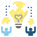 experience, idea, knowledge, learning, solve icon
