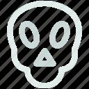 danger, death, skull icon icon